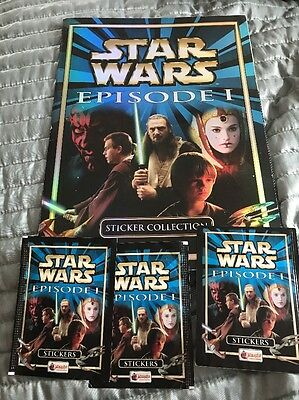 Star Wars Episode 1: The Phantom Menace - 100% Complete Merlin Sticker Album