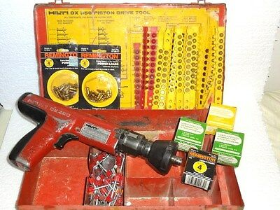 Hilti DX 350 Piston Drive Tool Nail Gun Actuated + Case and More