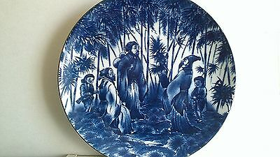 Stunning Large Chinese Blue and White Porcelain Plate - Hua Shan