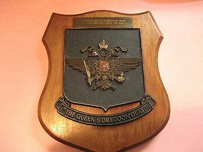 Larger than standard plaque for The Queens Dragoon Guards