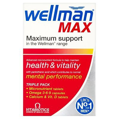 Vitabiotics Wellman Max 84 Tablets With Vitamin D & Omega 3 6 9