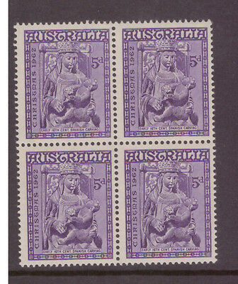 Australia 1962 Christmas  SG345 block of 4 mint stamps