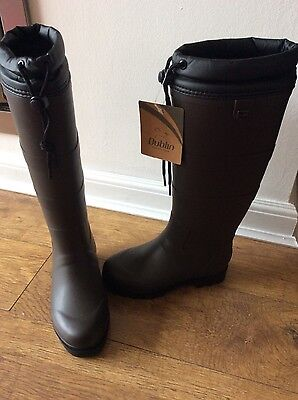 Dublin Teign Chocolate Brown Wellingtons, Wellies Horse Muck Out Boots Size 3