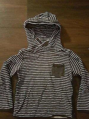 Boys Next Blue And White Stripe Hoodie 5-6 Years