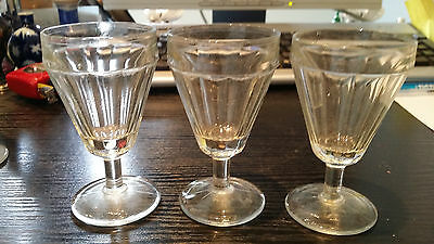 LOT ANCIENS VERRE BISTROT 1900 vintage ancien BAR ART DECO annes folles 1930