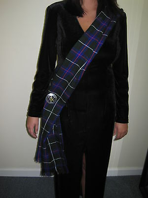"Ladies OR Mens Duncan Scottish Tartan Sash Scarf 90"" X 11"""