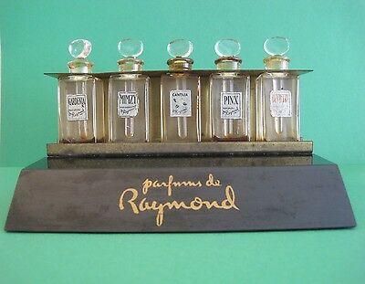 VINTAGE ART DECO Parfums de Raymond PERFUME BOTTLE STORE TESTER RACK DISPLAY