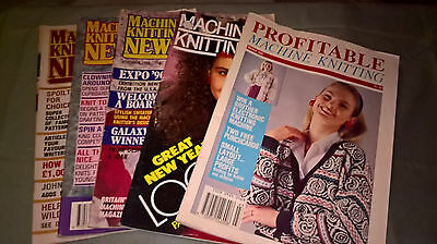 Machine Knitting magazines x 5