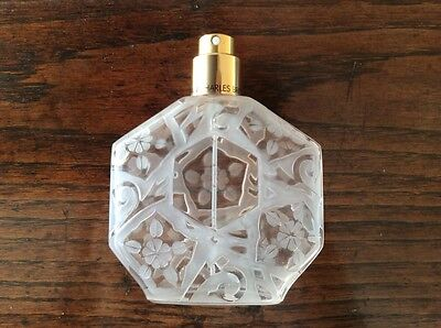 Empty Perfume Bottle French Jean Charles Brosseau Rare Scent Gold Collectible