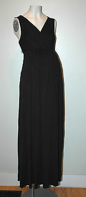 Liz Lange Maternity Black Dress Size M Medium  **NURSING friendly*