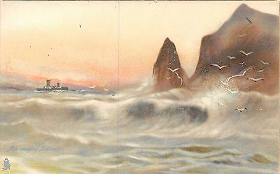 POSTCARD   SEASCAPES   Marine  Studies             TUCK
