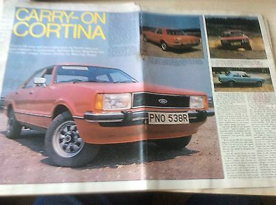 FORD CORTINA Mk.4   LAUNCH  ARTICLE  1976  ~ForCor04