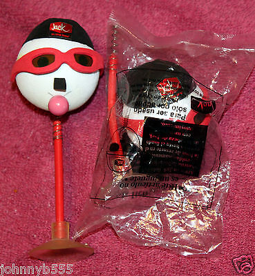 2 Rare Jack In The Box Antenna Ball &Suction Cup, Reverse Baseball Cap BubbleGum