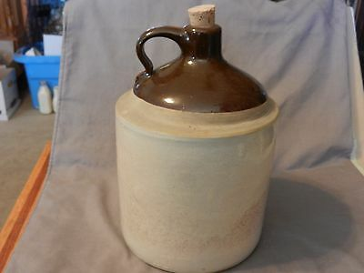 Vintage Antique Whisky Moonshine Stoneware Jug Brown & Grey 1 Gallon (M)