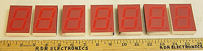 "Lot of 7 - Large 2.3"" 7-Segment Common Anode Red LED Display Ledtech LA2341R"