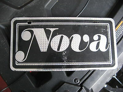 Chevy Chevrolet Nova Booster Front License Plate