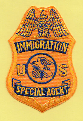 E15 * 1980 Ice Ins Sa Agent Gold Federal Dhs Fbi Police Patch Srt Atf Dea Immi
