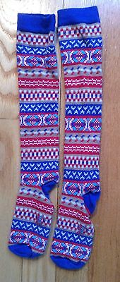 Oilily 4T Toddler Fair Isle Knee Highs