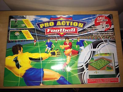 Pro Action Football MB Vintage Board Game Complete Subbuteo Style