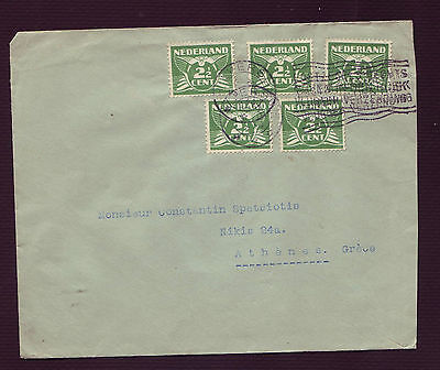 Niederlande-Netherlands Old Cover To Athens Greece (98108)