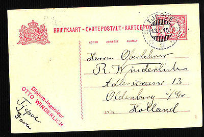 NETHERLANDS INDIA POSTAL STATIONERY from TJEPOE (79115)