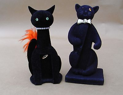Collectable Black Cat Miniature Perfume Bottle Display Holders