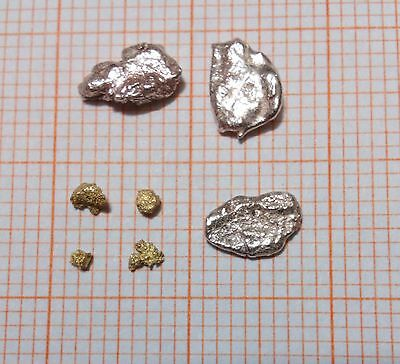 Pure Gold & Silver Nuggets Pepite D'oro Argento Pepites D'or & Argent