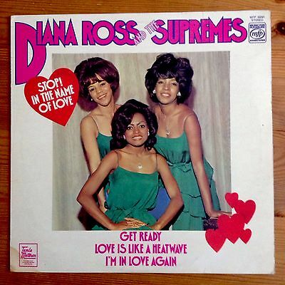DIANA ROSS & THE SUPREMES Stop In The Name Of Love 1976 LP NEAR MINT MINUS VINYL