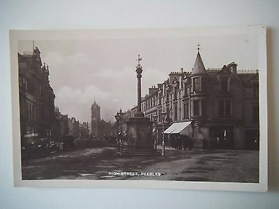 High Street Peebles Old Postcard Holmes Real Photo Series W H & Co Ltd