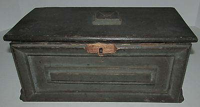 EARLY PINE DOCUMENT BOX with ORIGINAL PAINT AAFA