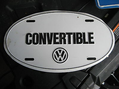 Volkswagen Vw Convertible Booster Front Round License Plate German Germany