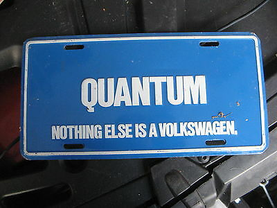 Volkswagen Vw Quantum Booster Front License Plate German Germany X