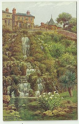 Art postcard  Artist A R Quinton Isle of Wight Ventnor Cascade   * 1637