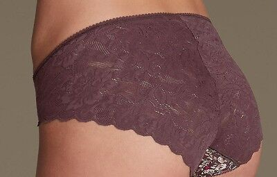 Marks And Spencer Floral Lace Wrap Knickers Briefs Size 12 Ladies Lingerie BNWT