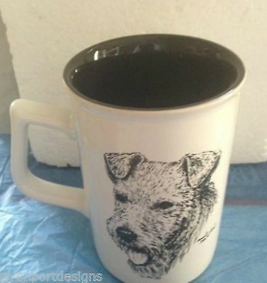 Airedale Mug Rosalinde Hand Painted Terrier Porcelain Coffee Collectible Dog Pet