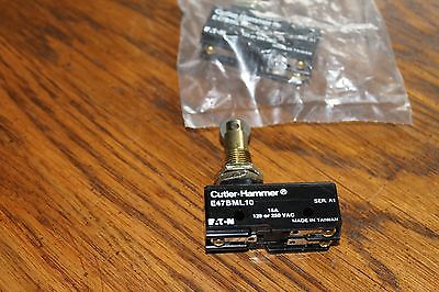 5 Cutler Hammer Micro Precision Limit Switches,E47BML10,roller plunger,New