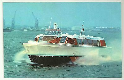 Isle of Wight Ferry postcard Red Funnel Sidewall Hovercraft  leaving Southampton
