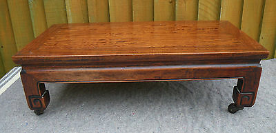 ANTIQUE 1920s CHINESE RED CEDAR WOOD LOW TABLE~FOOT STOOL~BENCH