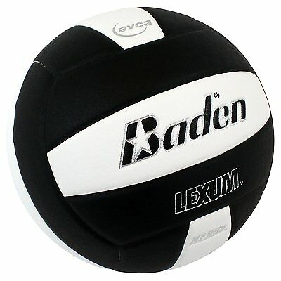 Baden Lexum Comp Official  Microfiber Composite Game Volleyball NFHS Black White