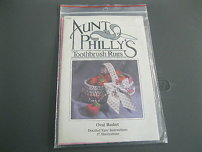 Aunt Philly's Toothbrush Rugs Oval Basket Pattern AP106 - 1989