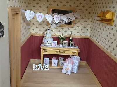 Dolls house miniature 12th scale - Wedding  decoration set