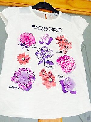 Girls very pretty flower t-shirt brand new, no tags size 11-12 years!