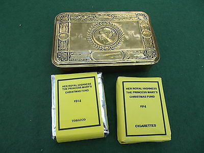 Brass Ww 1 Princess Mary Tin With Copy Contents