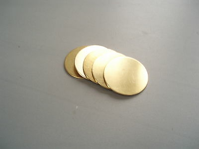 BRASS METAL DISCS CIRCLES BLANKS 40mm dia. STAMPINGS x 1.2mm*