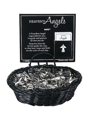 (1) Heaven's Angel Charm Pocket Token Coin with Verse Silver Holding Heart