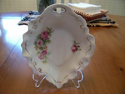 Vintage Porcelain China Dish with handpainted roses