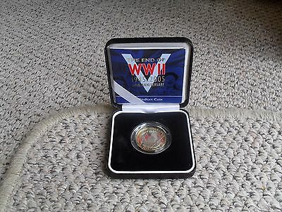 Royal Mint 2005 £2 Silver Piedfort Coin 60 Anniversary Of The End Of Ww2