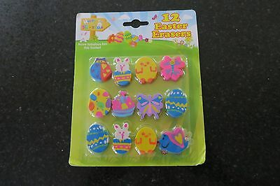 Pack of Brand new 'Easter' Novelty shaped Erasers.