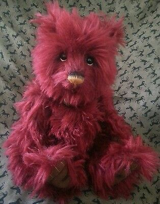 CHARLIE BEARS DISH DELISH - limited edition mohair bear with bag and tag