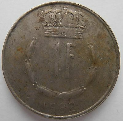 Luxembourg 1 Franc 1982